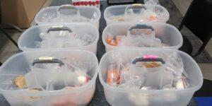 classroom bins